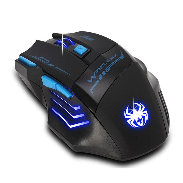 Optical Wireless Gaming Mouse 2.4Ghz New Adjustable 2400 DPI Gamer for computer & Laptop PC