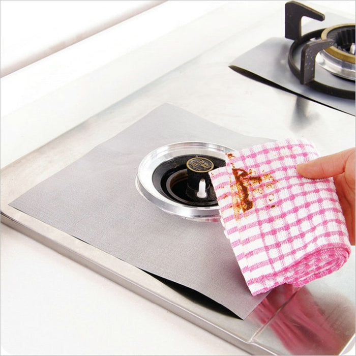 Gas Stove Burner Protectors 4pcs Glass Fiber Reusable