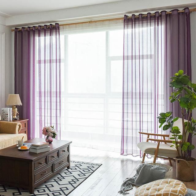 Sheer Drapery Panels in neutral colors