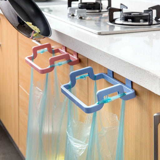 New Eco-friendly Kitchen Garbage Bags Support Holder Back Hanging Style Cabinet Stand Trash - 1 storage rack