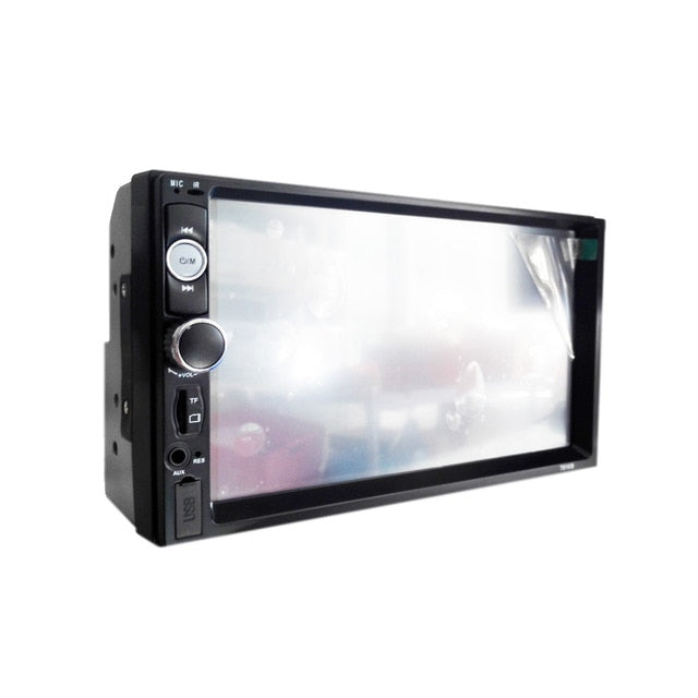 LCD 7'' inch  Touch Screen Bluetooth car radio player car audio aux support Rear View Camera