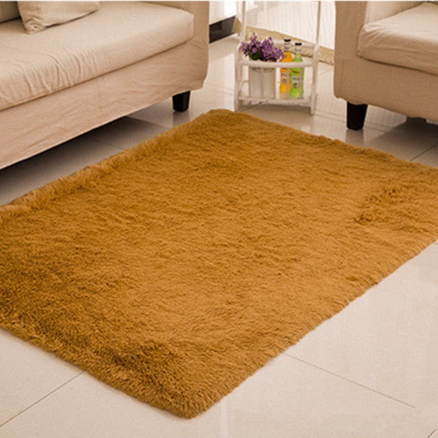 Living Room/Bedroom Anti-Skid Rug Soft 11 Colors