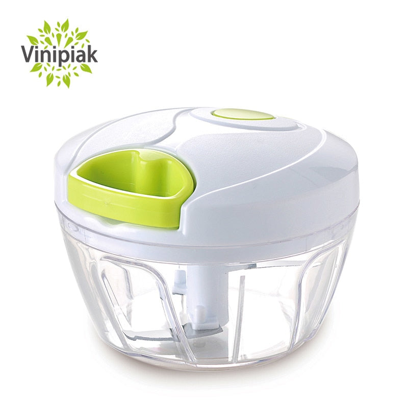 Manual Vegetable Fruit Garlic Chopper Hand Pull Food Chopper Onion Nuts Grinder Portable Kitchen food Processor Portable Mincer