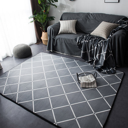 Geometric Rugs And Carpets For Home Living Room Soft Modern Bedroom Floor Rugs Absorbent Coffee Table Area Rug Meeting Room Mats