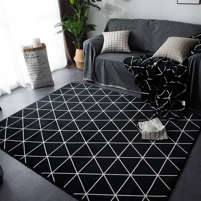 Prime Geometric Rugs And Carpets For Home Living Room Soft Modern Bedroom Floor Rugs Absorbent Coffee Table Area Rug Meeting Room Mats Home Interior And Landscaping Mentranervesignezvosmurscom