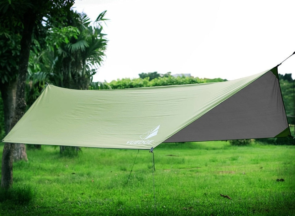 YUEDGE Brand 10x13 Ft Portable Tent Tarp Hammock Rain Fly Instant Shelter Sunshade For Camping Backpacking tents outdoor camping