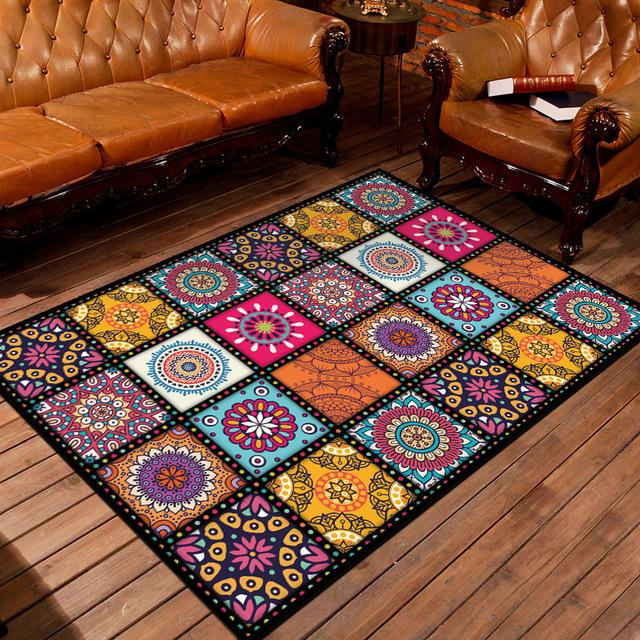 Decorative classic Modern  Home Mat Geometric Trellis Design Vintage