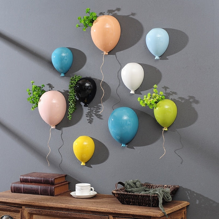 Creative Wall Hangings Balloon Vase Hanging Flower Pot