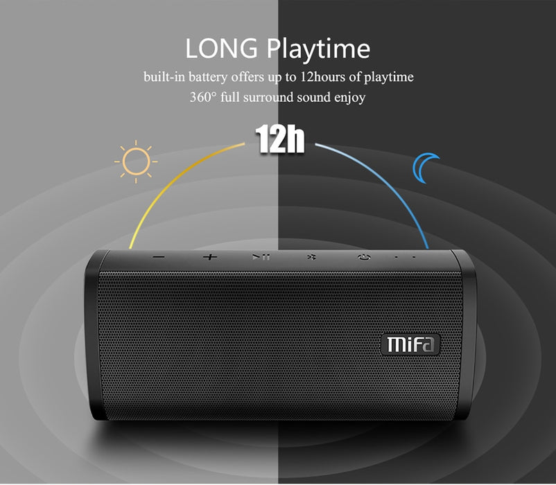 Bluetooth Wireless Speaker Portable Outdoor Waterproof speakerphone With Hook