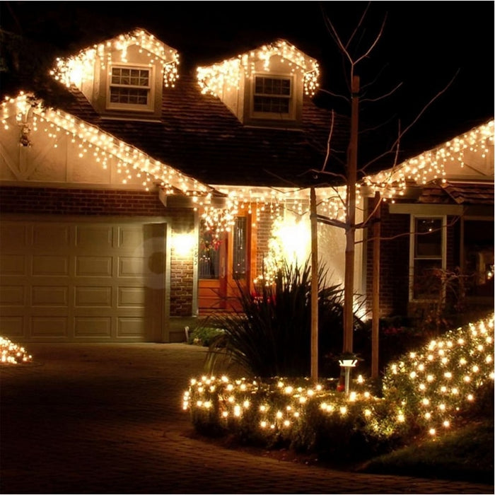Christmas LED Outdoor Curtain Icicle String 5M Light Droop 0.4-0.6M
