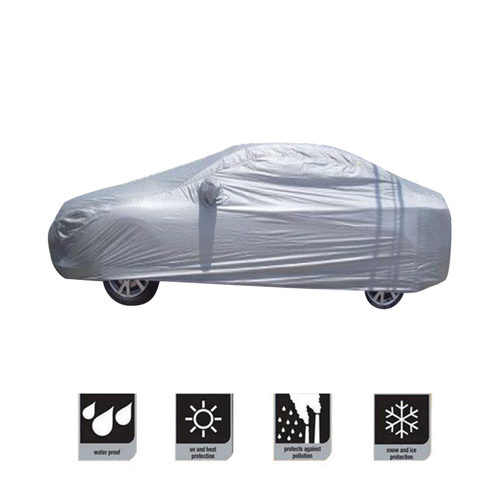 Universal Full Car Waterproof Covers for Snow Ice Rain Dust Sun UV Protector