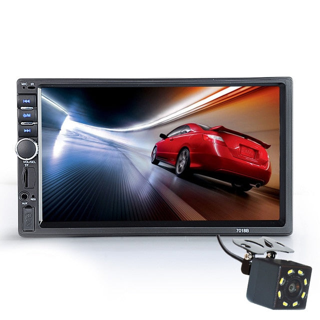 "Bluetooth HD Car Radio 7"" Touch Screen Power Aux Input SD USB With / Without Camera"