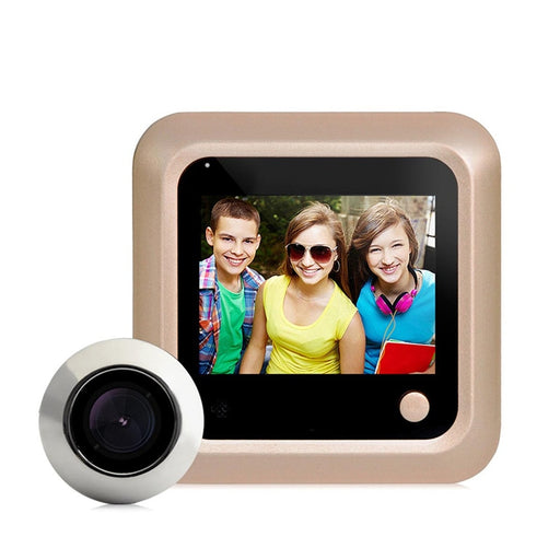 "DANMINI New 2.4"" LCD Color Screen Electronic Door Bell Digital Peephole Viewer Camera Doorbell Home Security mini Camera"