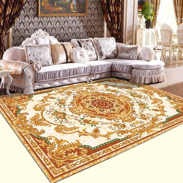 Zeegle European Carpets For  Living Room  Anti-slip Bedroom Carpets Bedside Rugs Office Chair Floor Mats Carpets For Children