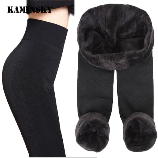 Velvet Warm Seamlessly Integrated Cashmere Leggings Autumn Winter Fashion Pants
