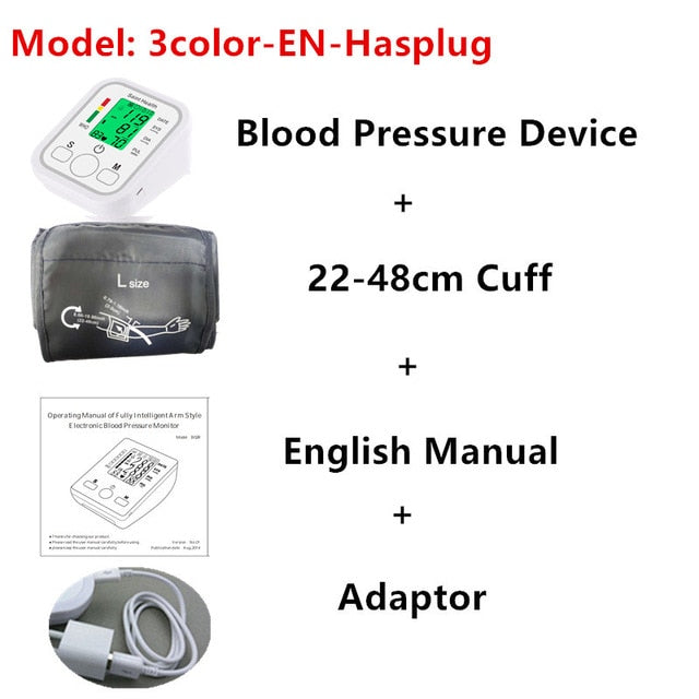 LCD Upper Arm Blood Pressure Monitor