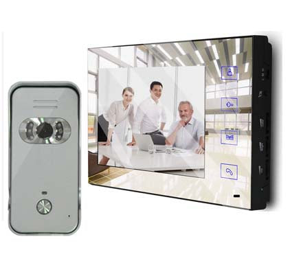 "XinSiLu Latest model 7"" Full Color LCD Mirror Screen video door phone home automation security intercom doorbell 1V1"