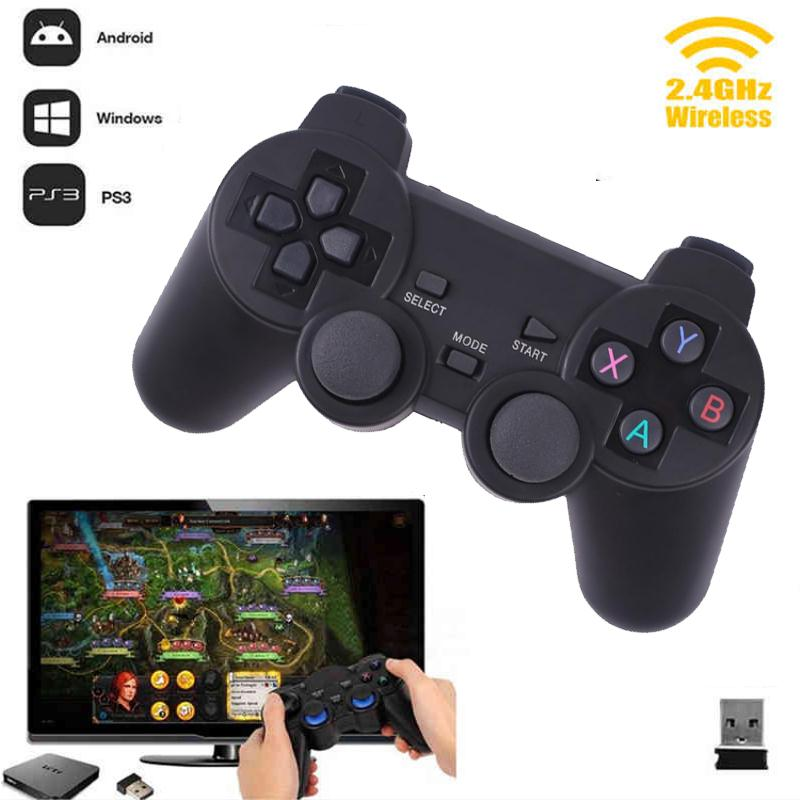 Cewaal Hot 2 4G Wireless Gamepad PC For PS3 TV Box Joystick 2 4G Joypad  Game Controller Remote For Xiaomi Android