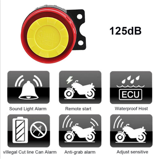 Universal Motorcycle Moto Bike Alarm System Scooter Anti-theft Security Alarm System Remote Control Engine Start  + Alarme Moto Speaker