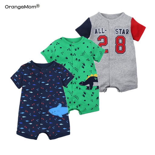 Summer boys baby clothing Short Sleeved Jumpsuit Newborn Romper Baby Boy Clothes infant  0-24 Baby Rompers