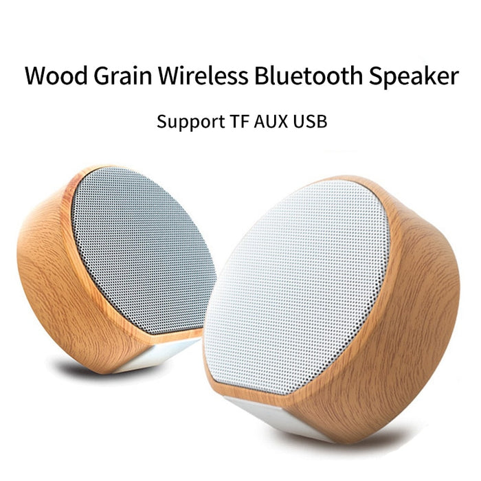 New Wood Grain Wireless Bluetooth Speaker Portable Mini Subwoofer Audio Gift Stereo Loudspeaker Sound System Support TF AUX USB
