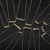 12 Zodiac Letter Constellations Necklace