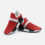 RED, WHITE & BLACK PATTERN | Unisex Lightweight Sneaker S-1