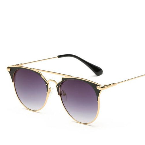 Pilot Sunglasses Women Cat Eye Female Sunglasses