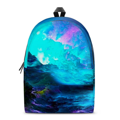 Electric Creations Bags SMALL Dream Waves - All Over Print Cotton Backpack