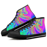 Electric Creations Shoes Drip - Black High Top Canvas Shoes