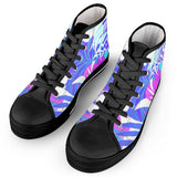 Electric Creations Shoes Summer Vibes - Black High Top Canvas Shoes