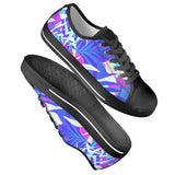Electric Creations Shoes Summer Vibes - Black Low Top Canvas Shoes