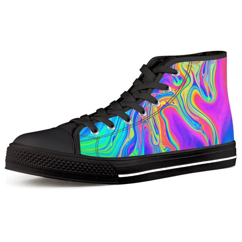 Electric Creations Shoes Women US5 (EU35) Drip - Black High Top Canvas Shoes