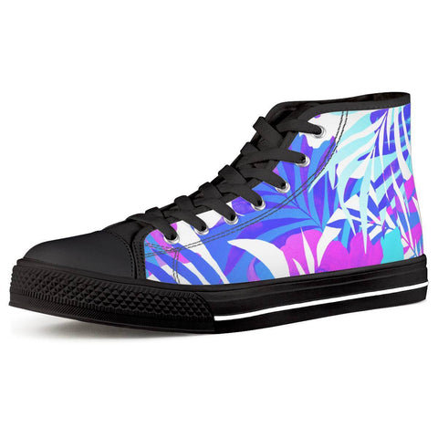 Electric Creations Shoes Women US5 (EU35) Summer Vibes - Black High Top Canvas Shoes