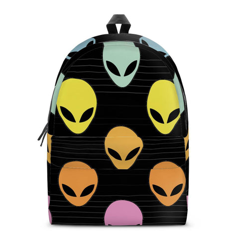 Gigi's Market Bags SMALL Alien Invasion - All Over Print Cotton Backpack