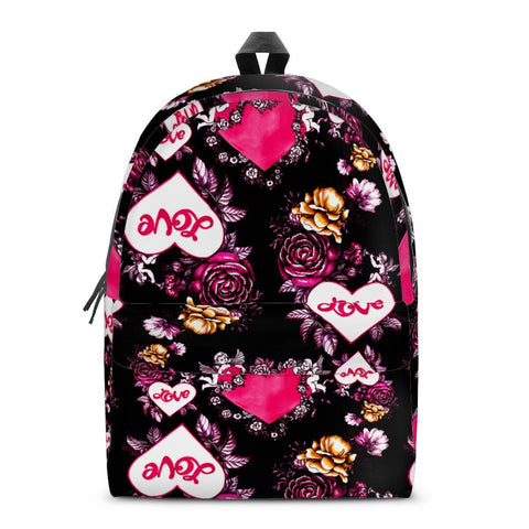 Gigi's Market Bags SMALL Garden of Love - All Over Print Cotton Backpack