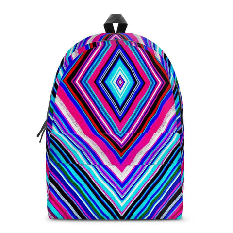 Gigi's Market Bags SMALL Illusions - All Over Print Cotton Backpack