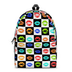 Gigi's Market Bags SMALL Lots a kisses - All Over Print Cotton Backpack