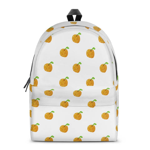 Gigi's Market Bags SMALL Orange Cartoon -  Drawing Pattern Design All Over Print Cotton Backpack