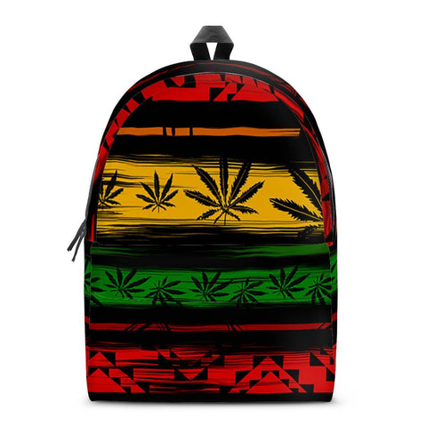 Gigi's Market Bags SMALL Rasta - All Over Print Cotton Backpack
