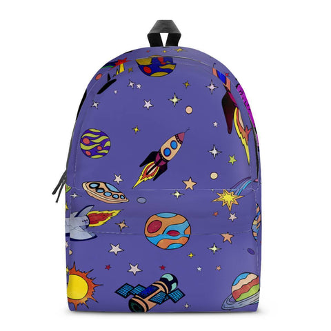 Gigi's Market Bags SMALL Spacecraft - All Over Print Cotton Backpack