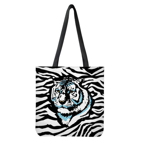 Gigi's Market Bags Stripes of Winter - Cloth Tote Bags