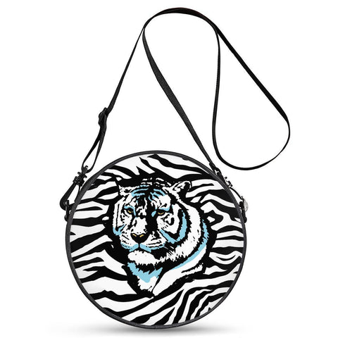 Gigi's Market Bags Stripes of Winter - Round Satchel Bags