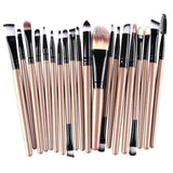 Gigi's Market Gold 20 pcs Makeup Brush Set tools Make-up Toiletry Kit Wool Make Up Brush Set