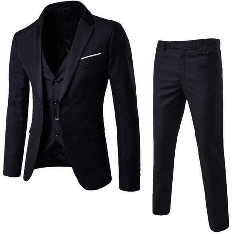 Gigi's Market, LLC BK / XXL / China 3-Pieces Men Blazer/Tuxedo Suit Set