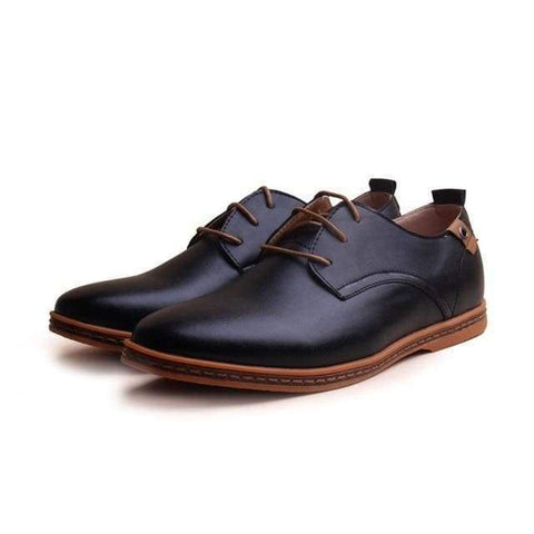 Gigi's Market, LLC Black / 6 Leather Casual Dress Shoes for Men