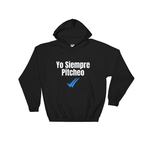 Gigi's Market, LLC Black / S Yo Siempre Pitcheo Hooded Sweatshirt