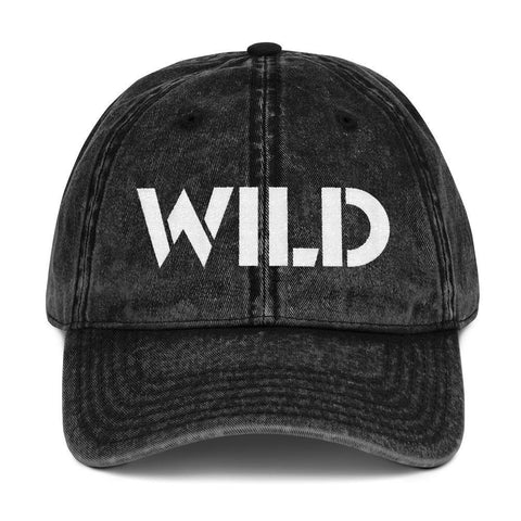 Gigi's Market, LLC Black WILD Vintage Cotton Twill Cap
