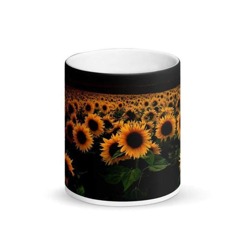Gigi's Market, LLC Matte Black Magic Mug | Sunflowers