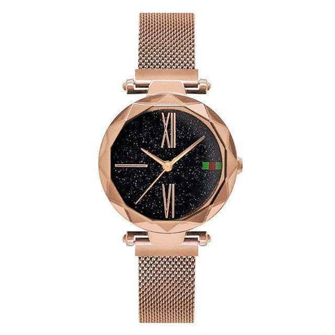 Gigi's Market, LLC Rose Gold Luxury Women Watches | Starry sky Magnet Buckle